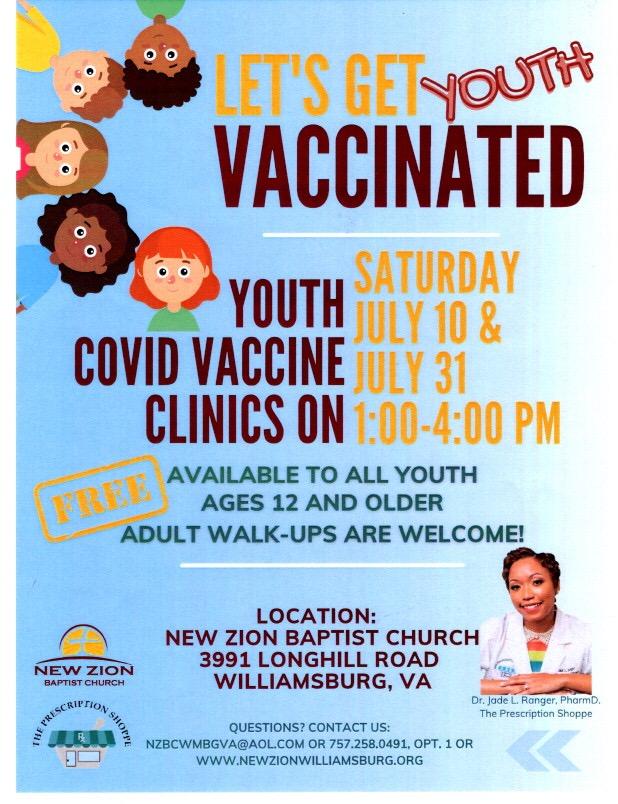 Youth Covid Vaccine Clinics